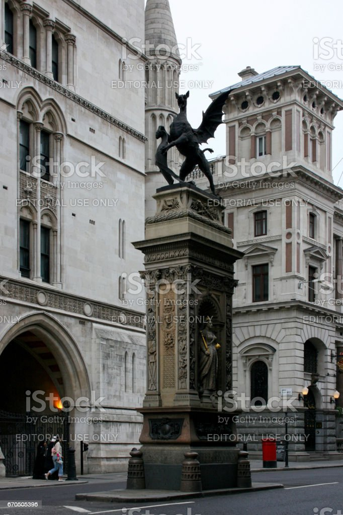 Dragon City of London stock photo