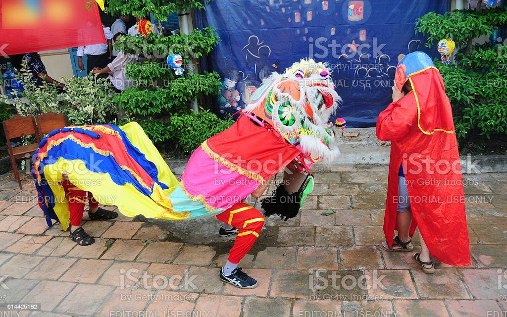 Dragon dance stock photo