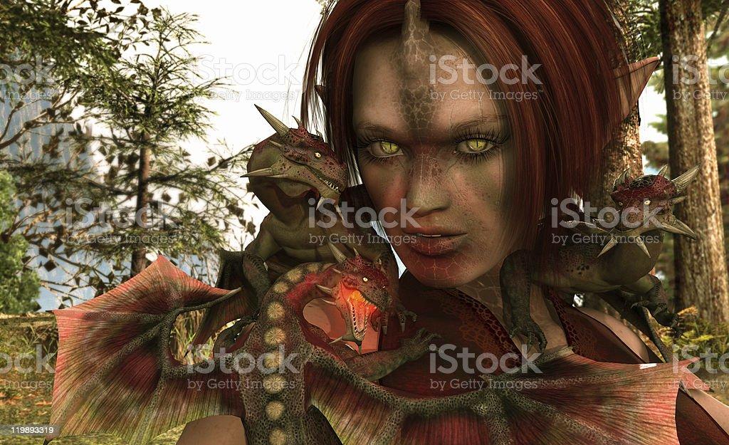 Dragon Elf royalty-free stock photo
