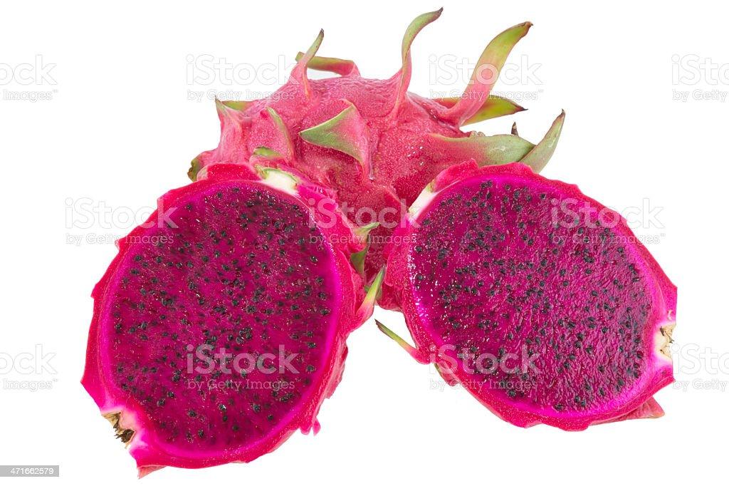 dragon fruit isolated on white background royalty-free stock photo