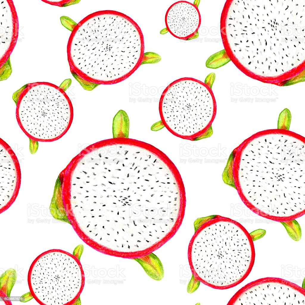 Dragon fruit pattern stock photo
