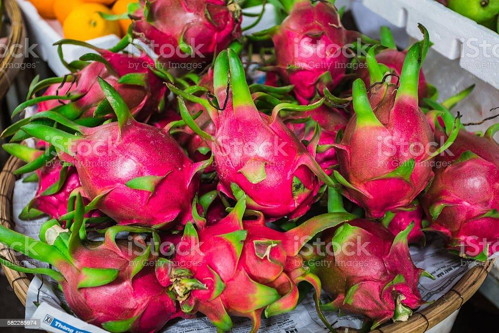 Dragon fruit, Pitaya (geow mangon) stock photo