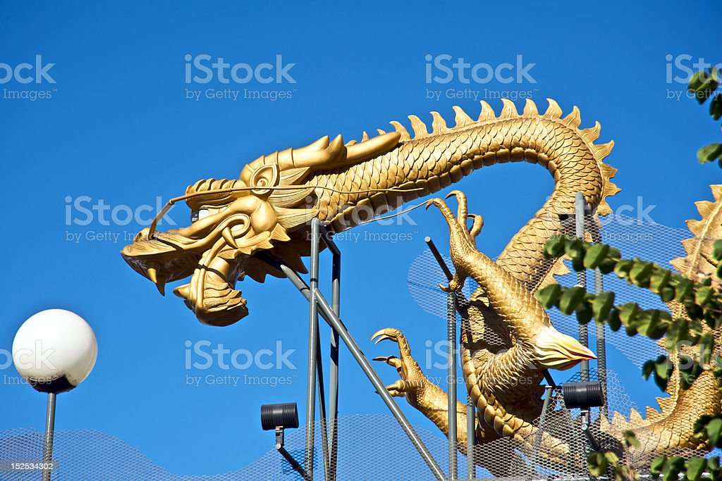 Dragon in Chinatown Los Angeles royalty-free stock photo