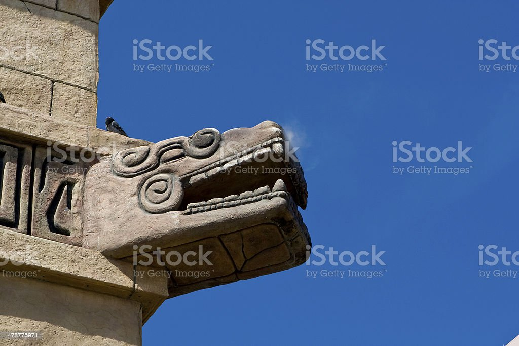 Dragon in front of the building stock photo