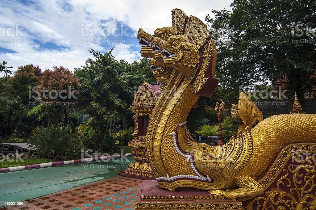 Dragon  in Thailand stock photo