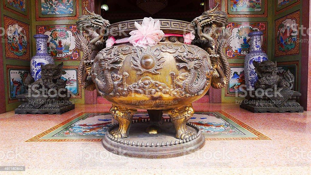 Dragon incense burner stock photo