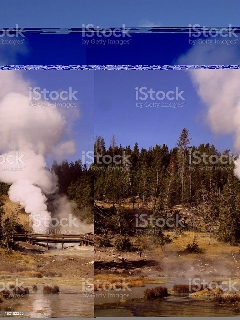 Dragon Mouth Geyser Yellowstone stock photo