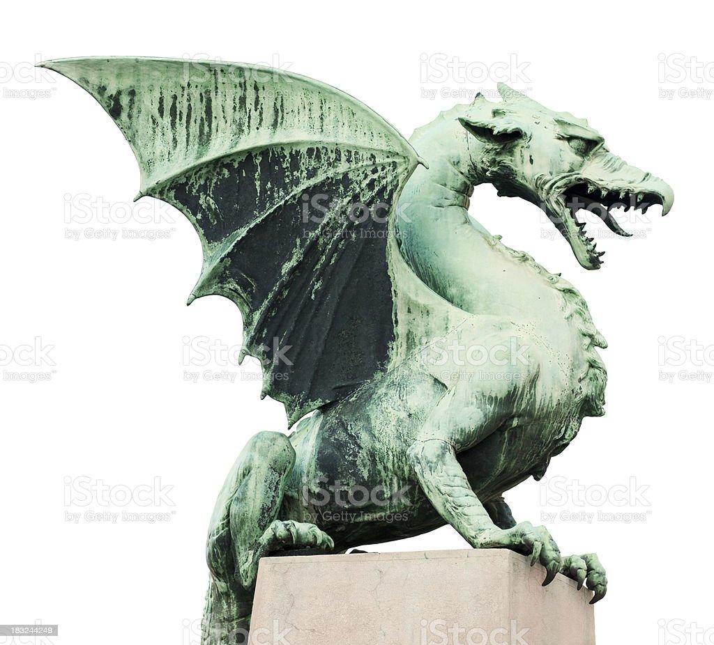 Dragon of Ljubljana stock photo