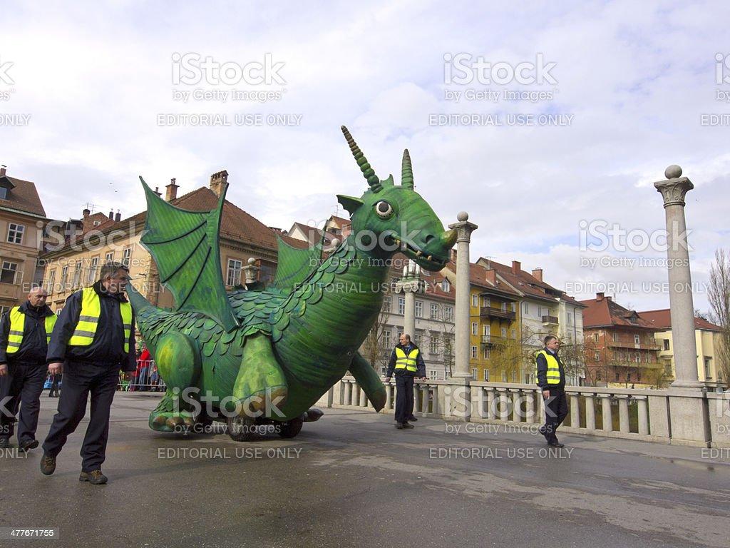 Dragon on bridge royalty-free stock photo
