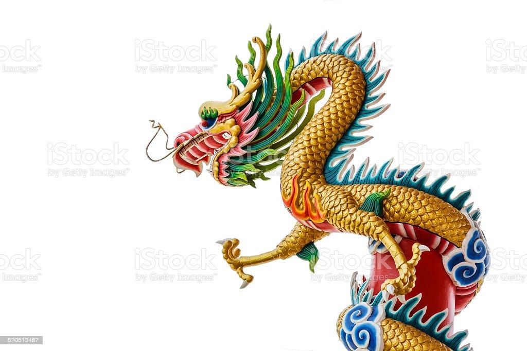 Dragon on pole stock photo