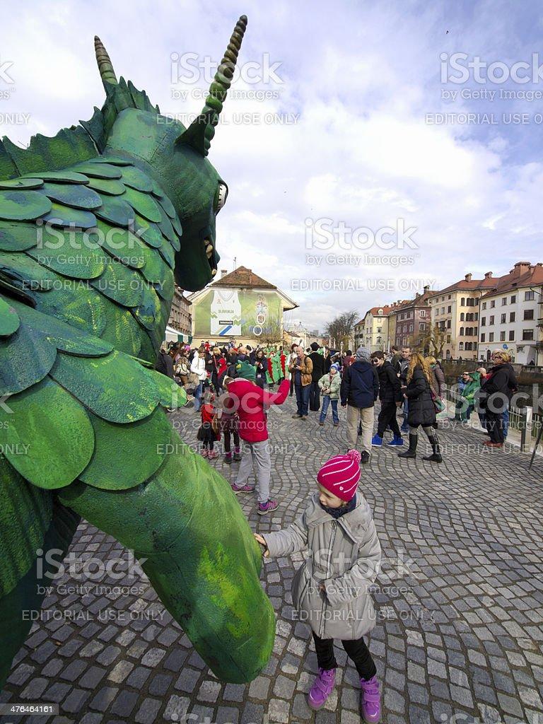 Dragon on street royalty-free stock photo