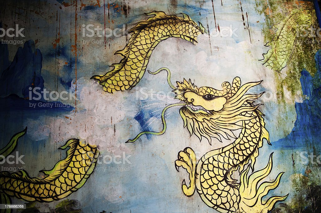 Dragon Painting stock photo