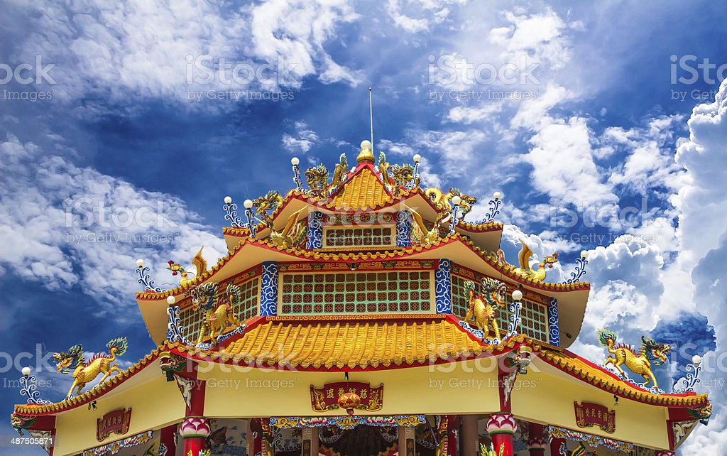 Dragon palace stock photo
