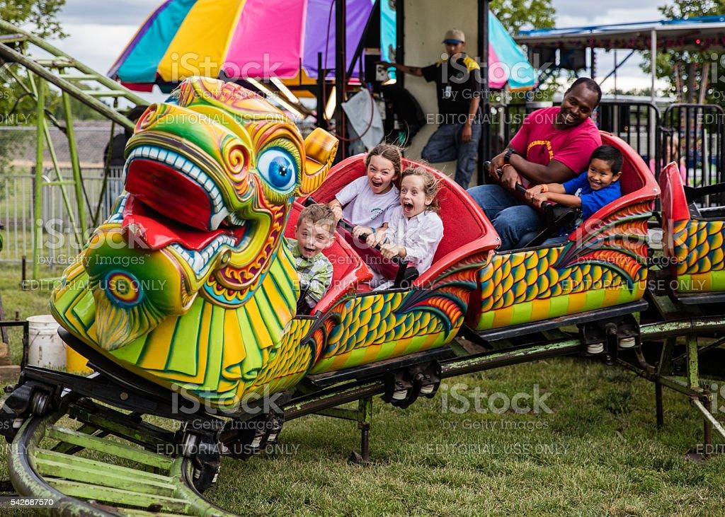 Dragon Riders stock photo