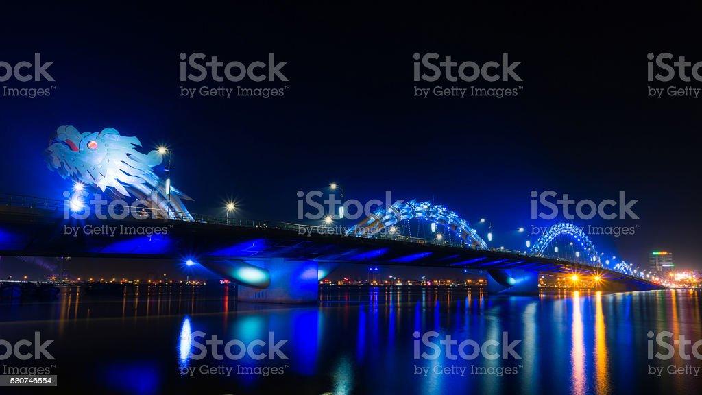 Dragon River Bridge stock photo