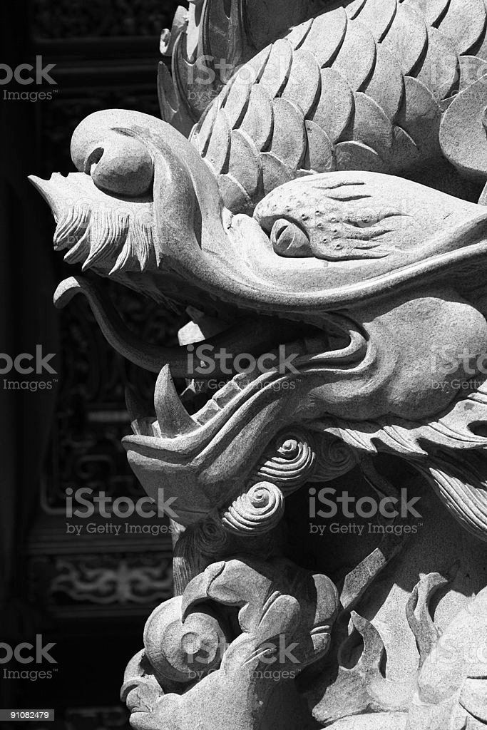 Dragon Sculpture stock photo
