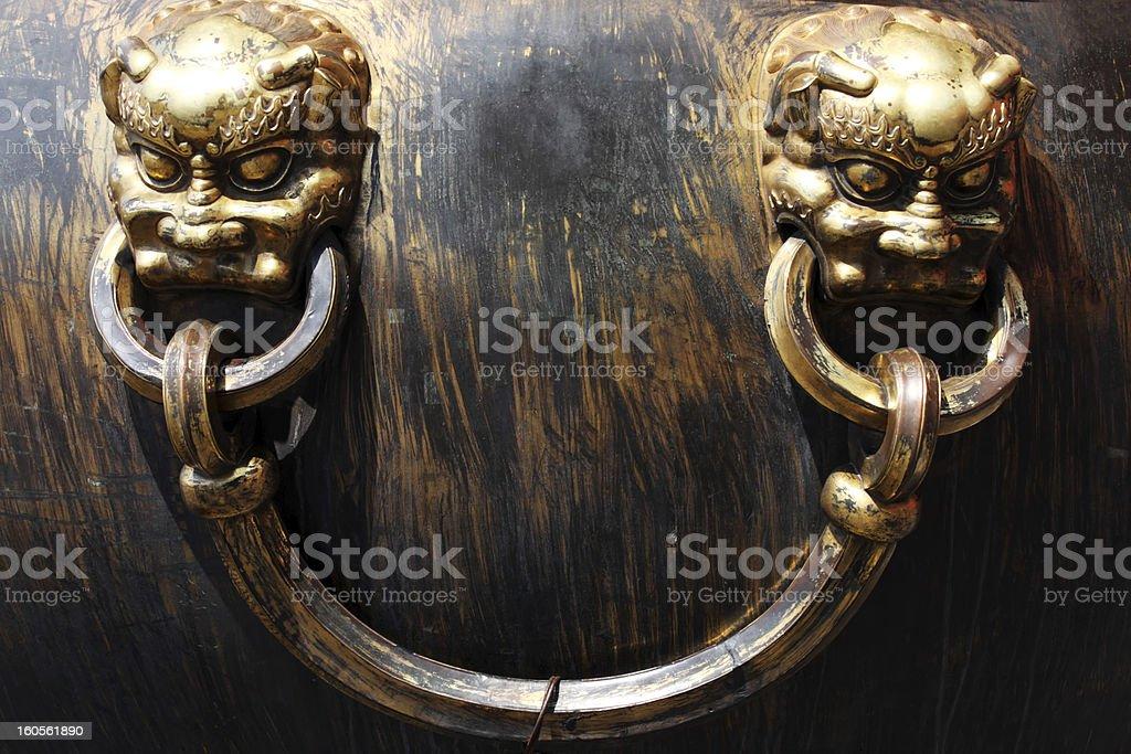 Dragon glänzenden Bronze Pot Gugong Lizenzfreies stock-foto