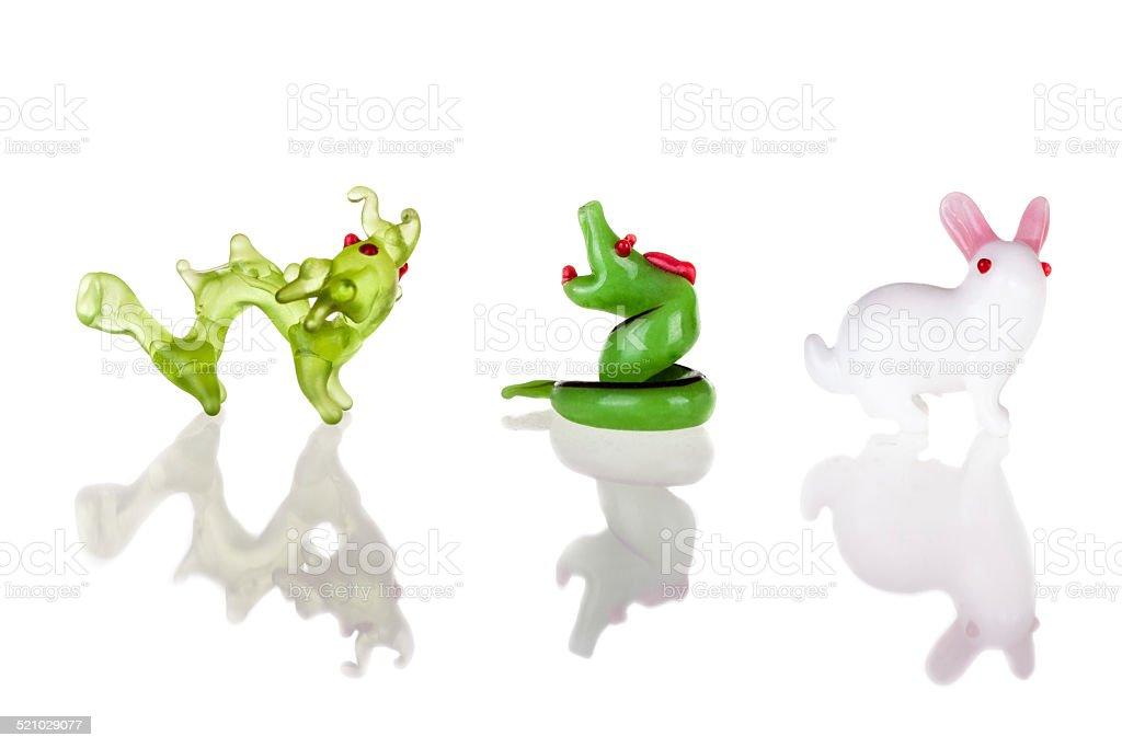 Dragon Snake and Rabbit stock photo