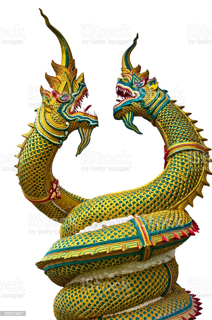 Dragon statue in Thailand stock photo