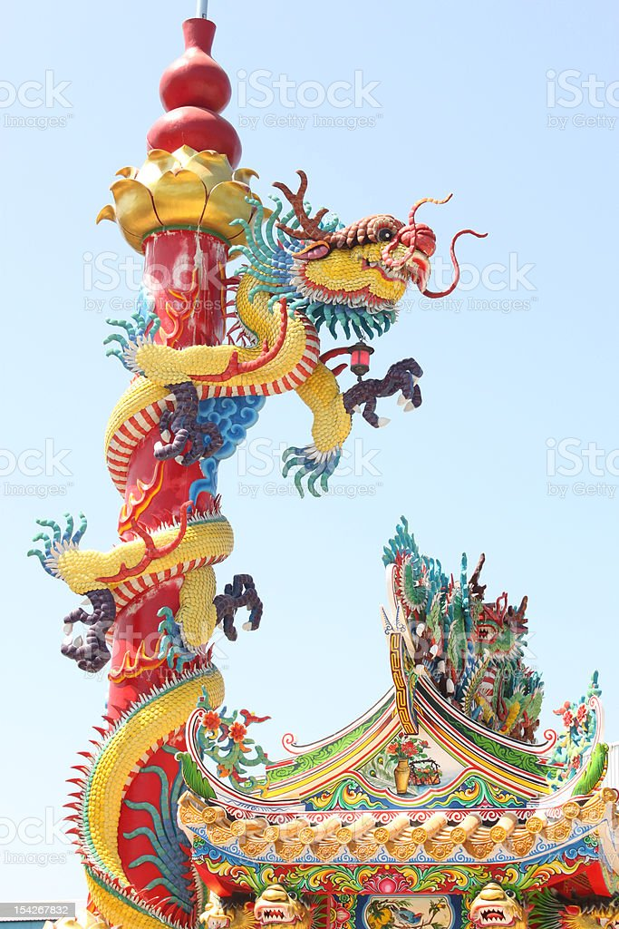 dragon statue. royalty-free stock photo