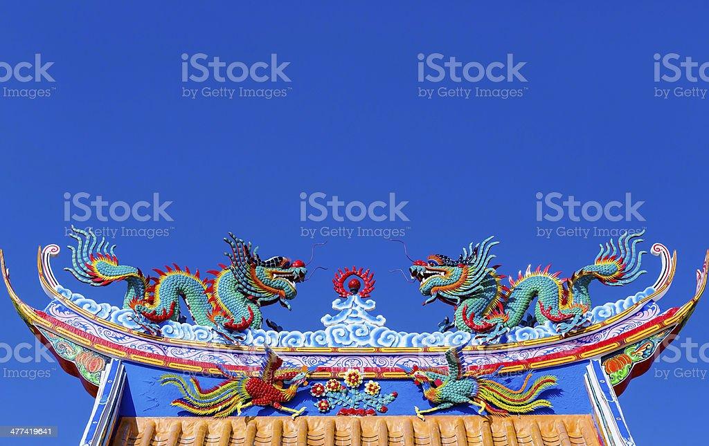 Drachen statue Lizenzfreies stock-foto