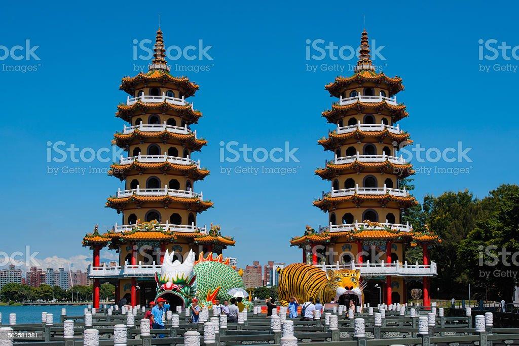 Dragon Tiger Towers stock photo