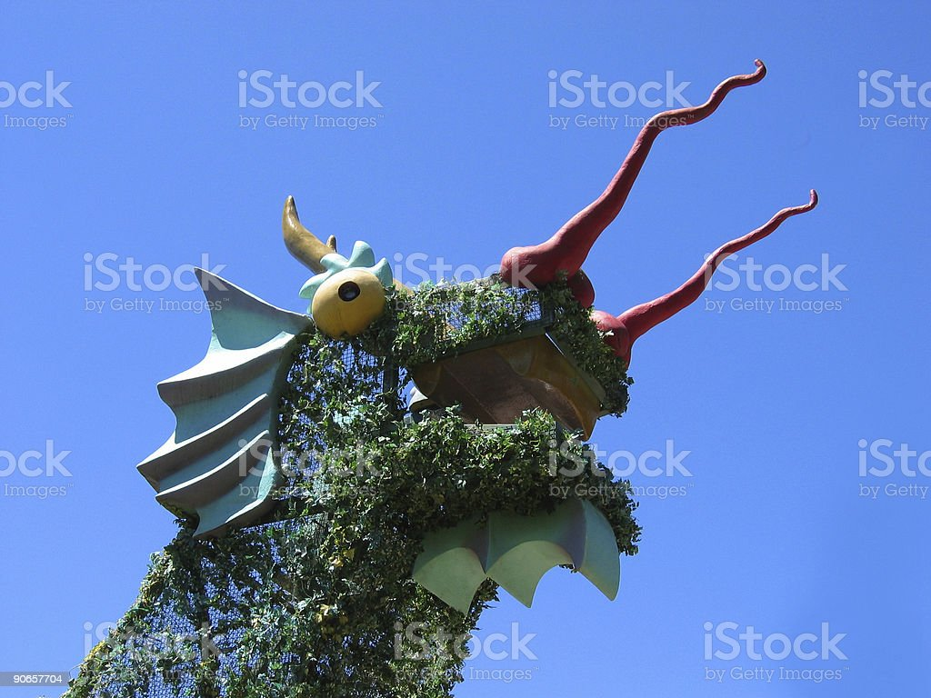 Dragon Topiary at Lake Merritt, Oakland, CA royalty-free stock photo