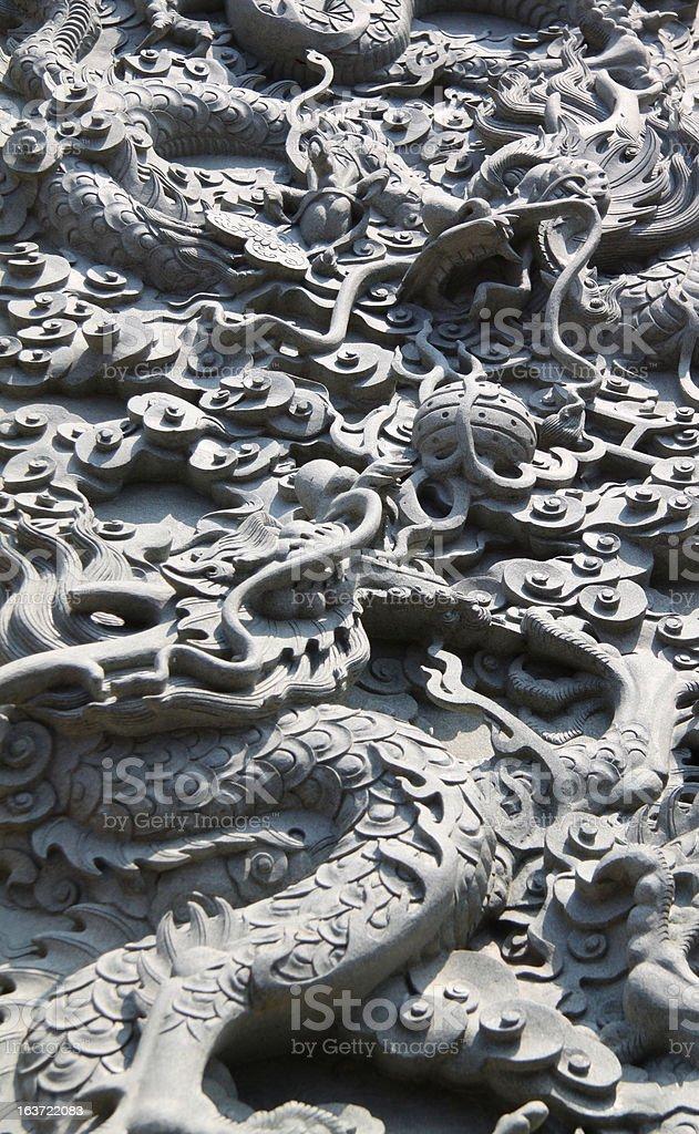 dragon wall royalty-free stock photo