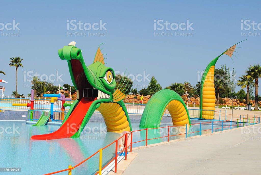 Dragon water slide stock photo