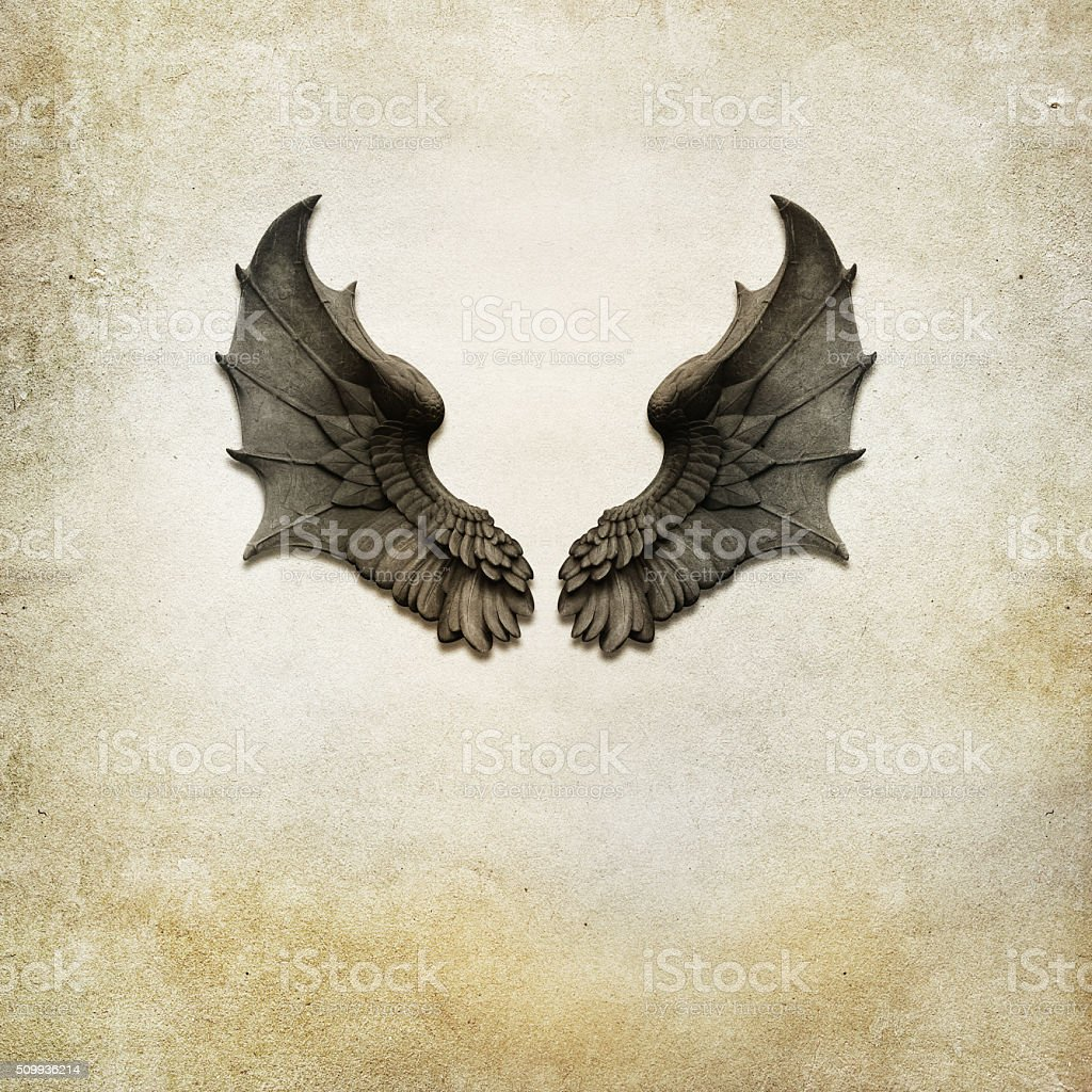 dragon wings background stock photo