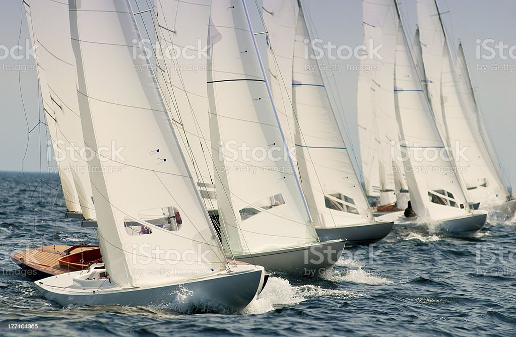 dragon yacht at regatta stock photo