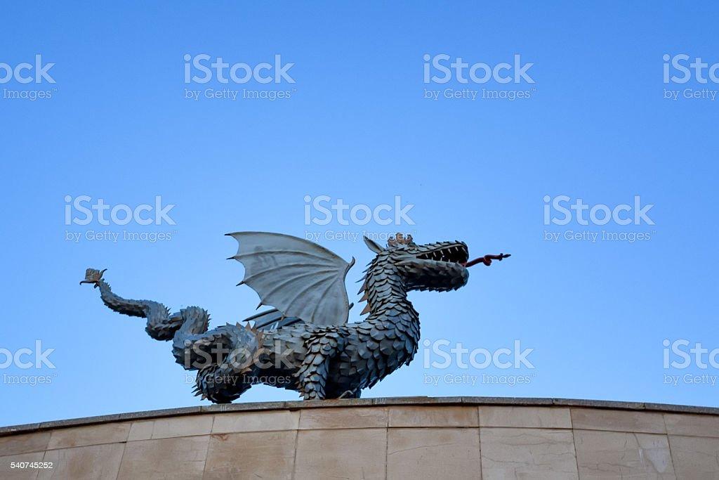 Dragon Zilant is a symbol of Kazan stock photo