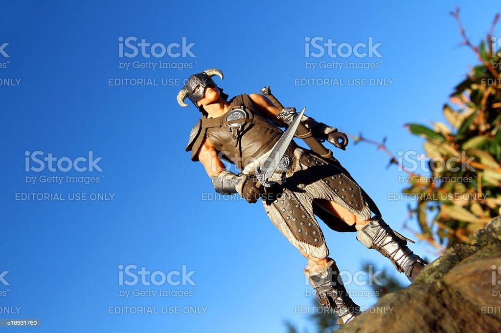 Dragonborn Against the Sky stock photo