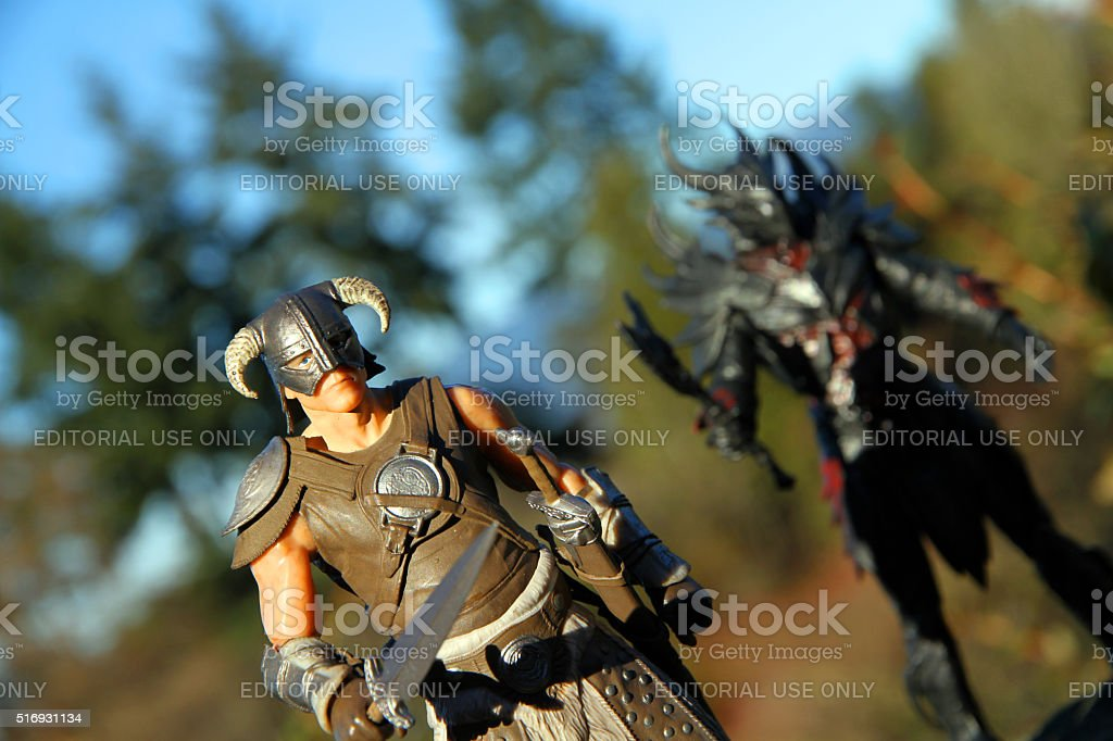 Dragonborn in the Woods stock photo