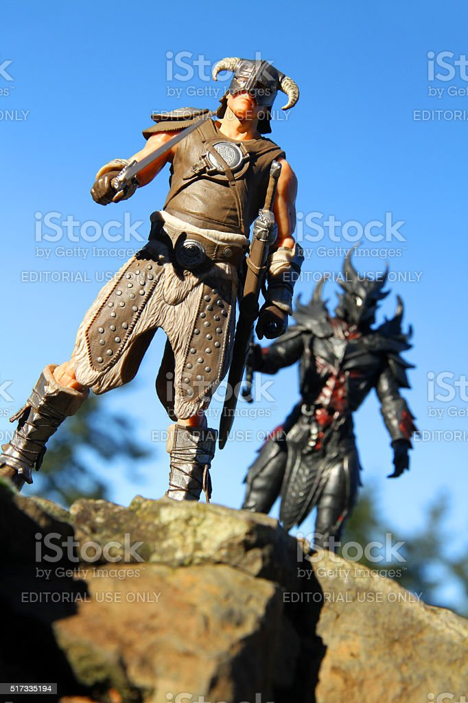 Dragonborn on the Ridge stock photo