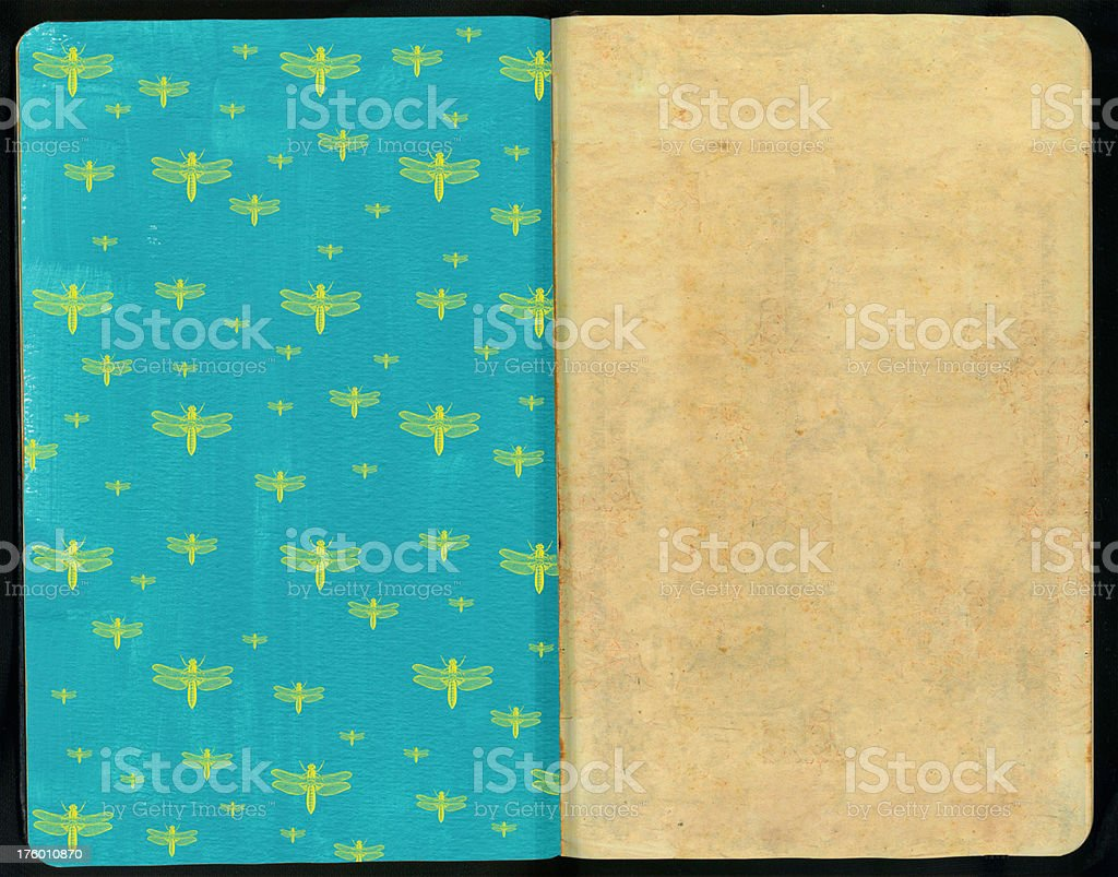 Dragonfly Sketch Pad royalty-free stock photo
