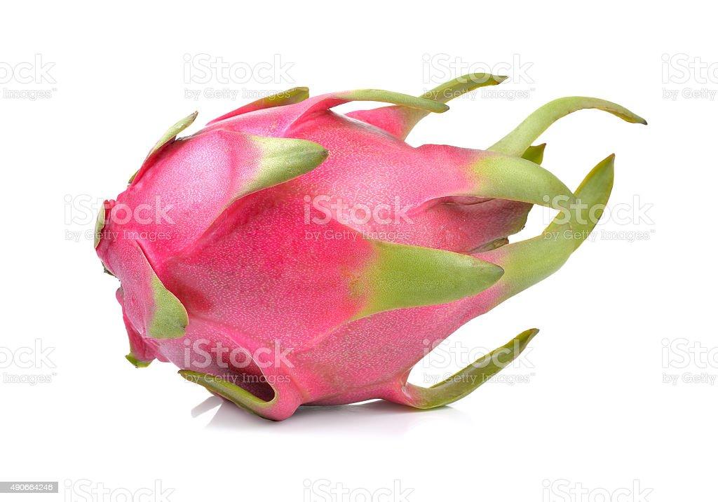 dragonfruit na białym tle zbiór zdjęć royalty-free