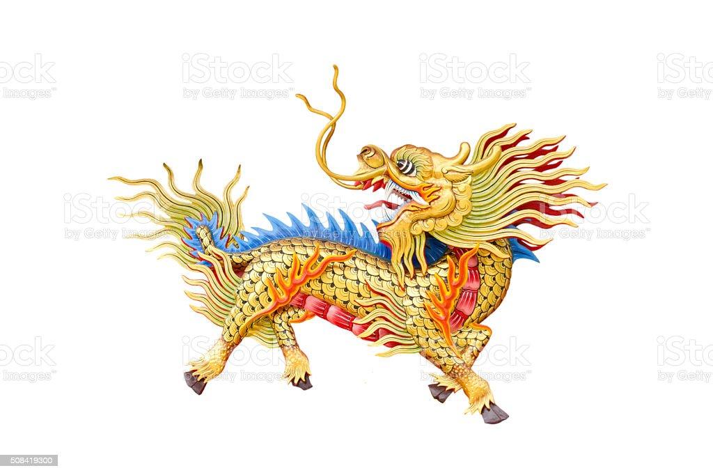 dragon-head unicorn on white background. stock photo