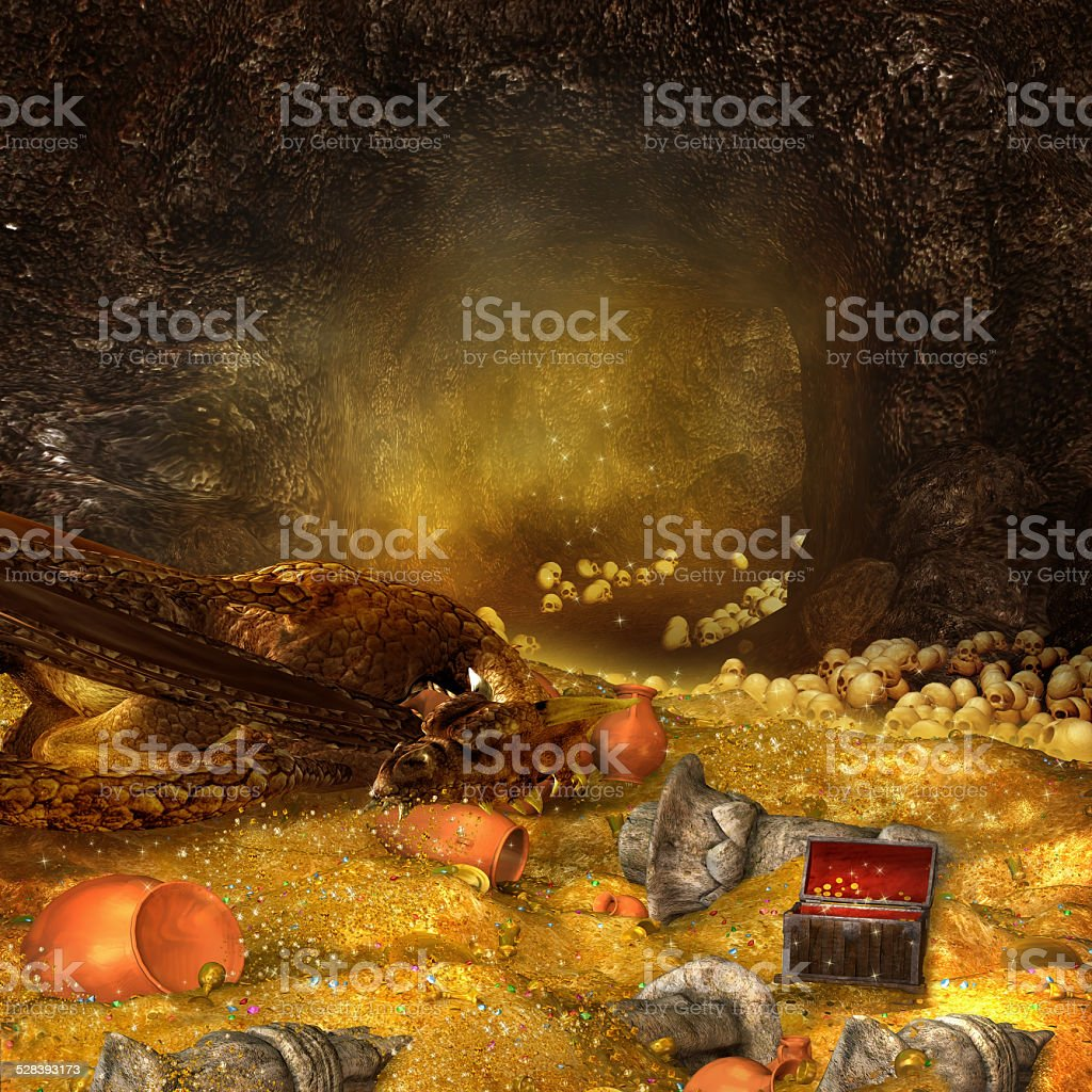 Dragon's cave stock photo