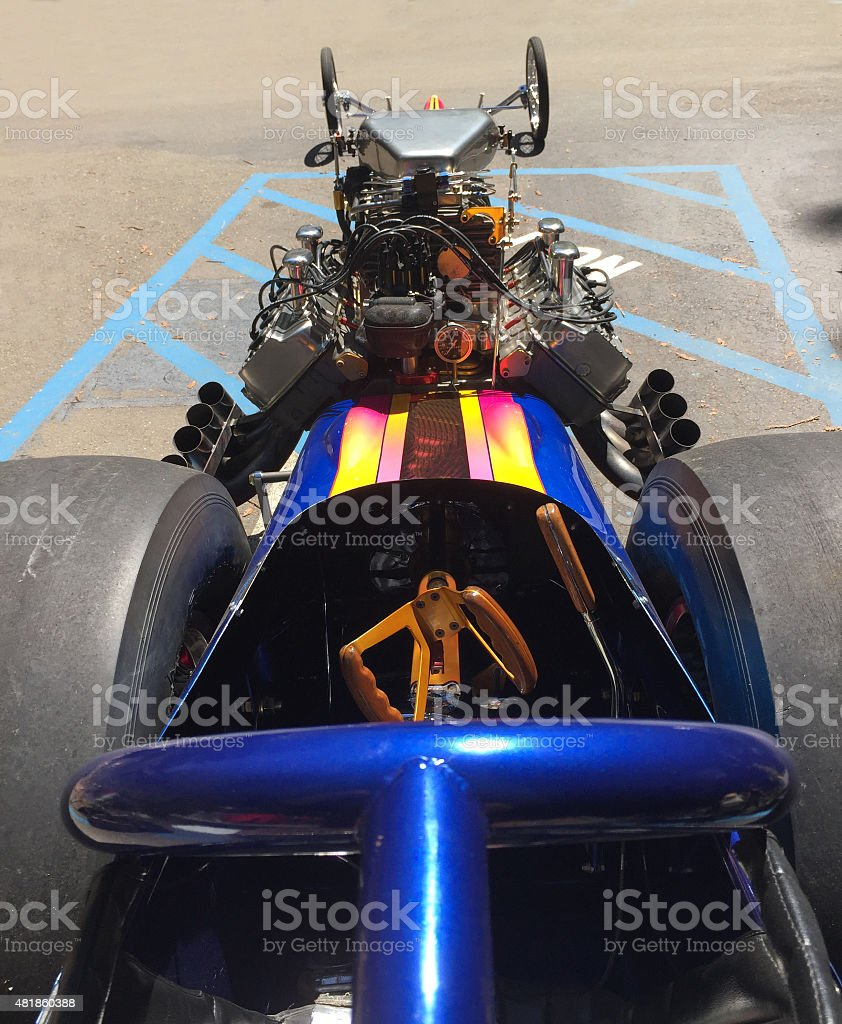 Dragster stock photo