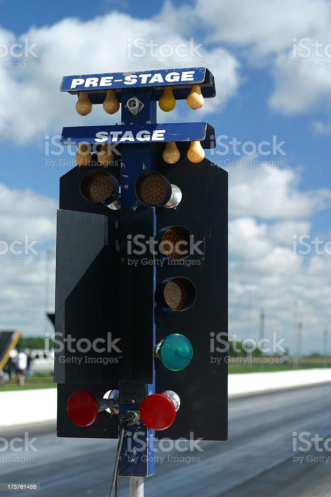 Dragway Christmas Light royalty-free stock photo