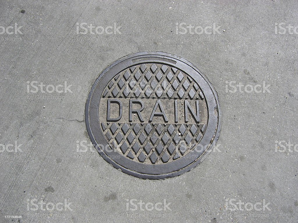 Drain Cover stock photo