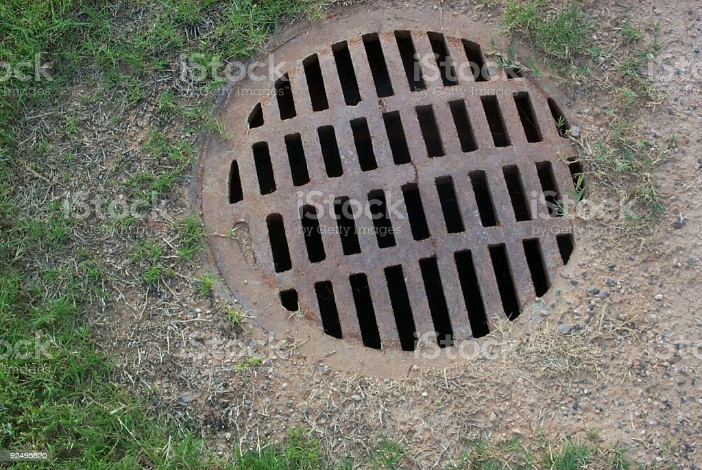 Drain Grate royalty-free stock photo