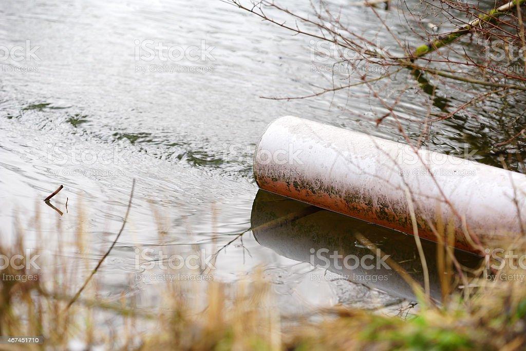 Drain in nature sea stock photo