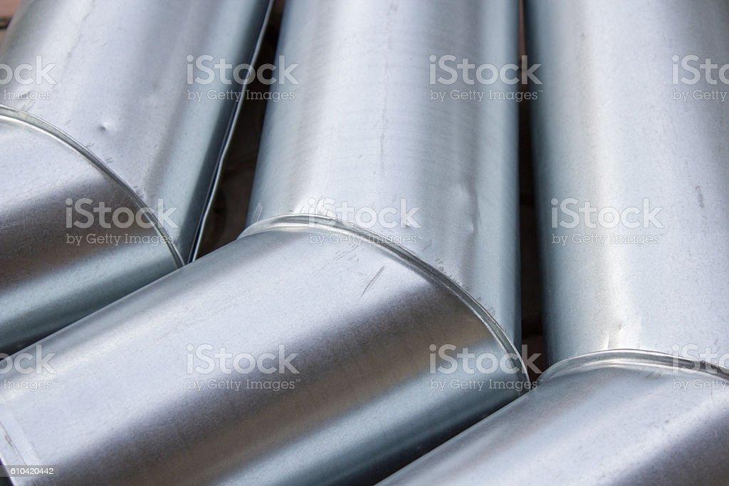 drain metal galvanized pipes stock photo