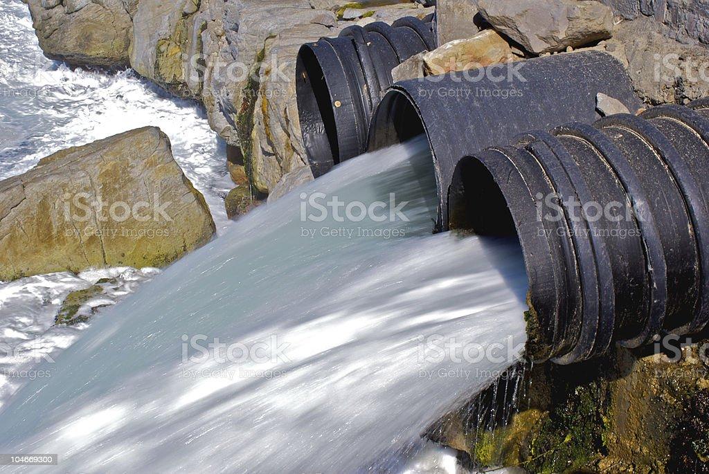 Drain pipe royalty-free stock photo
