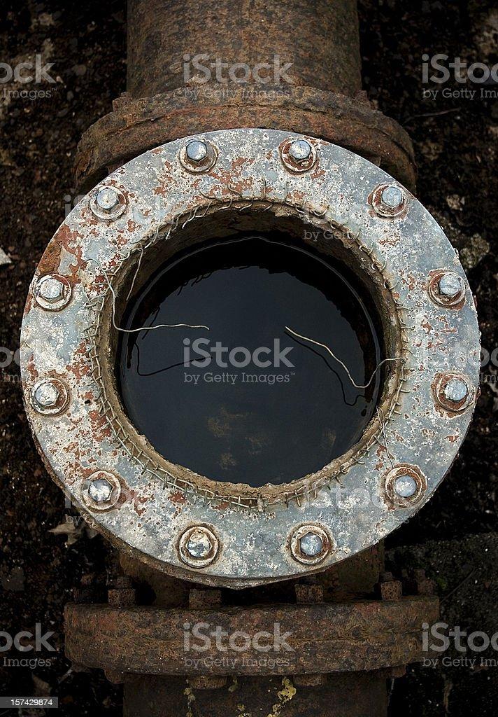 Drain Pipe stock photo
