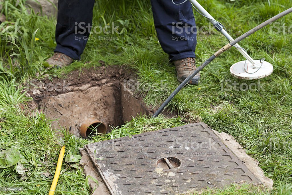 Drain problems royalty-free stock photo