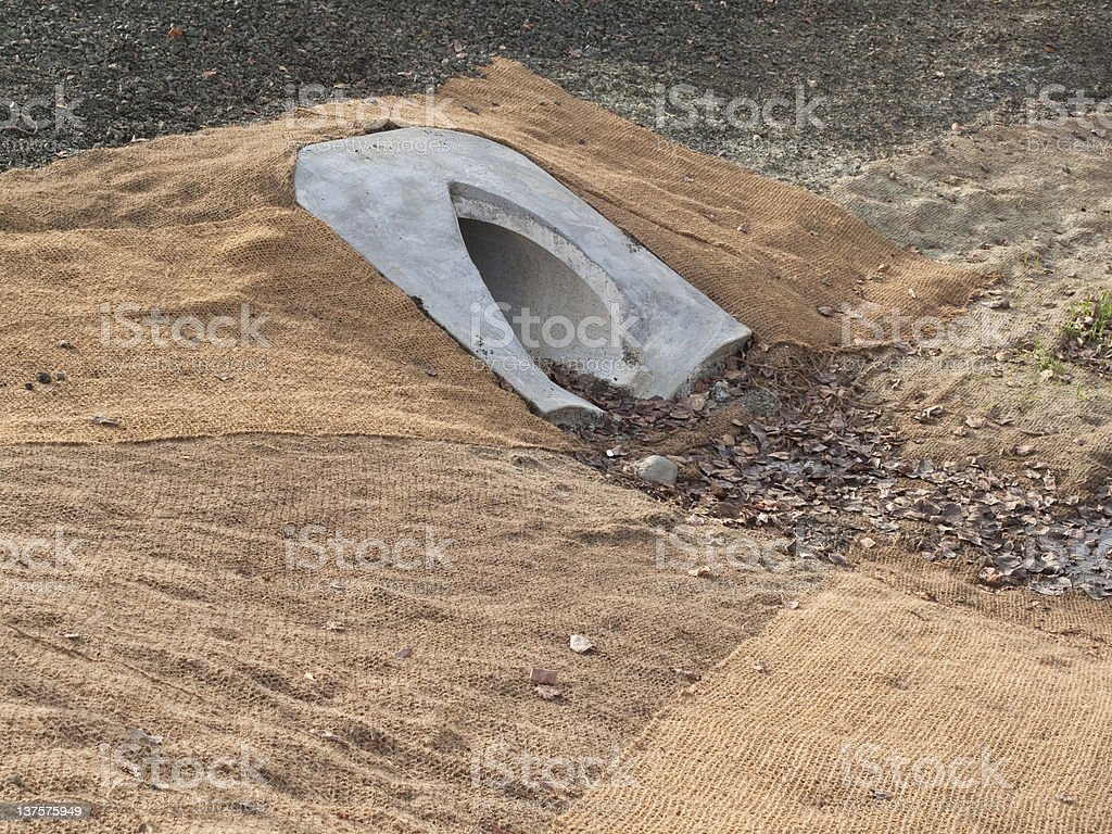 Drainage Culvert royalty-free stock photo