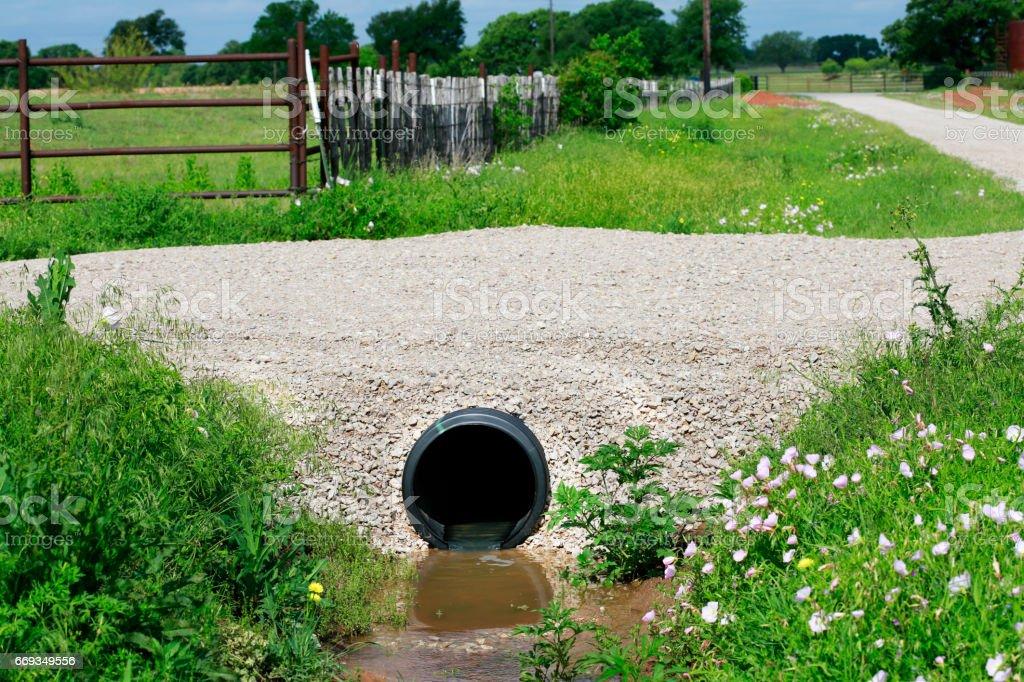 Drainage pape stock photo